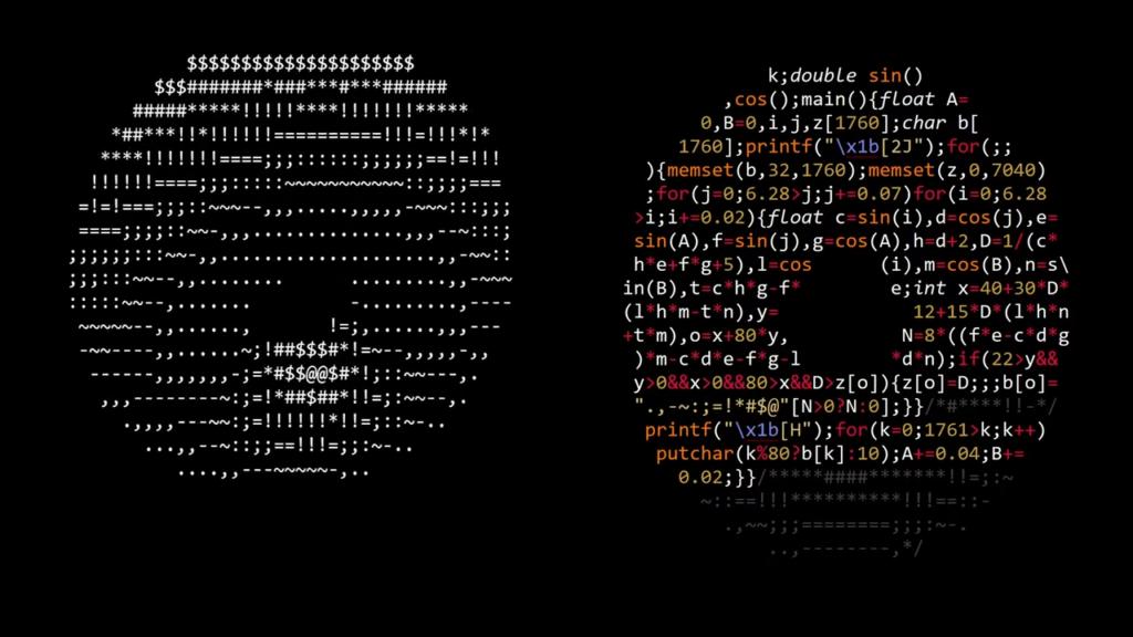 Programski kod u obliku krafne – prikazuje 3D krafnu